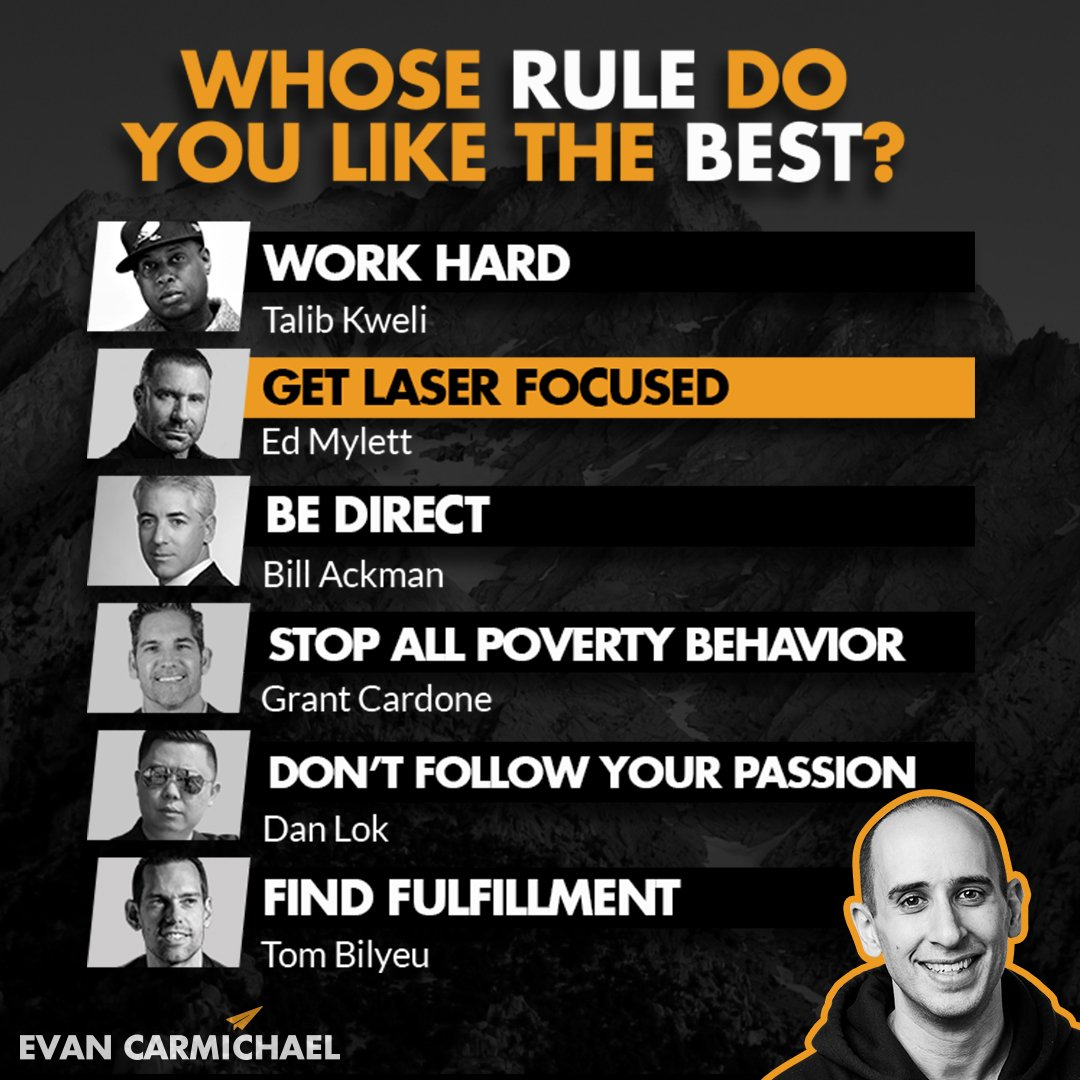 Whose rule do you need most in your life right now? Tag the person and comment below! #Believe  #ruleforsuccess #businessmindset #richmind #businessknowledge #successfulminds #determinationquotes #impacttheory #mindsetreset #mindsetshift<br>http://pic.twitter.com/i9xIZOK8pY