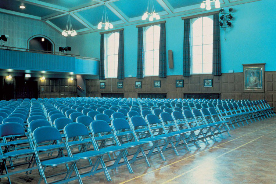 Bold and bright. Check out our folding chairs in Queen Elizabeth's Grammar School.   https://t.co/8mkOvN5it1