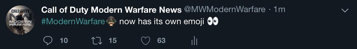 Black Ops Cold War News On Twitter Modernwarfare Now Has Its Own Emoji