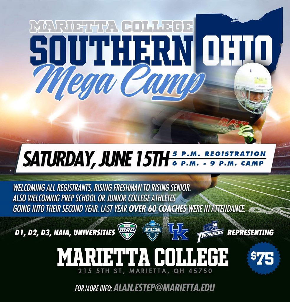 🚨 Get registered for our June camp with @rawtalentsports 🚨 Register HERE ➡️  https://events.r20.constantcontact.com/register/m?oeidk=a07egd435rya7ad166d&oseq=&c=&ch=… ‼️‼️ Come experience everything we have to offer #PioNation ⚪️🔵⚪️