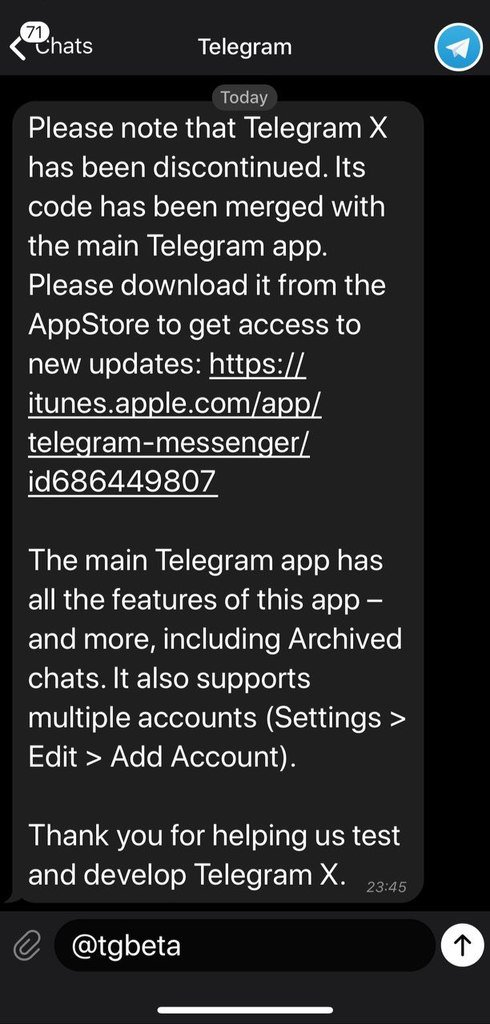 Telegram Beta on Twitter: