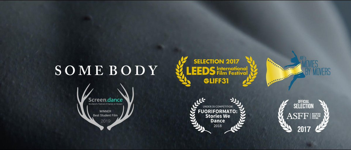 This is quite some news! Some Body won the Best Student Film Award at http://Screen.dance .  As a result, the film will be acquired by the Horsecross Arts museum of contemporary art at Threshold ArtSpace and become part of a permanent public collection! 🎉🎉 @NFSFilmTV