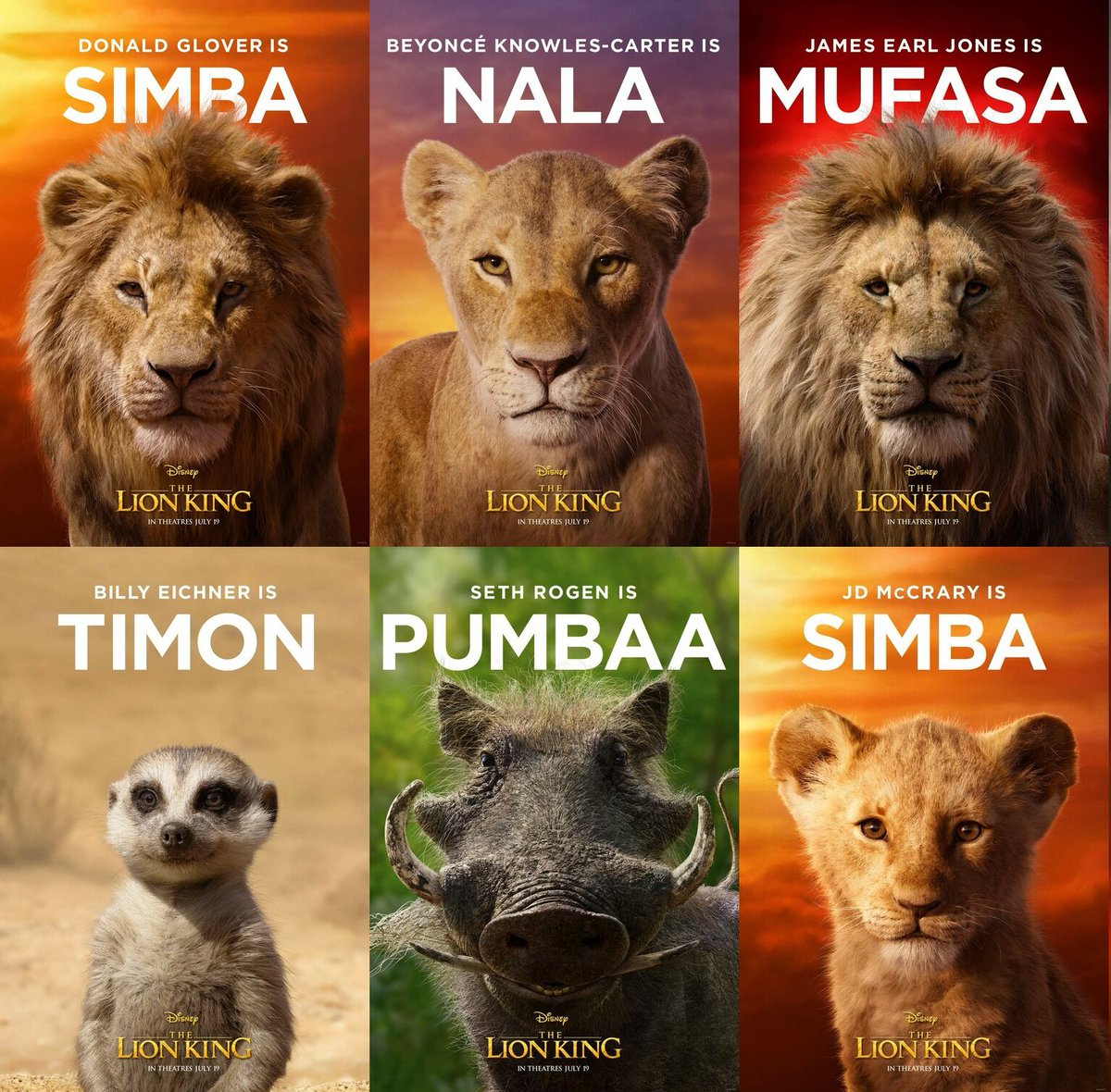 Popcornography On Twitter Character Posters For Disney S The Lion King Released Thelionking Disney Movieposters