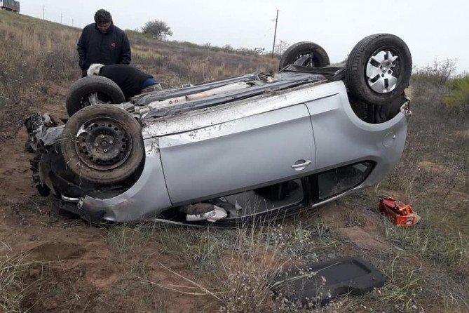 #Región | Vuelco en Ruta 188: Una mujer protagonizó un accidente cuando se dirigía a General Pico