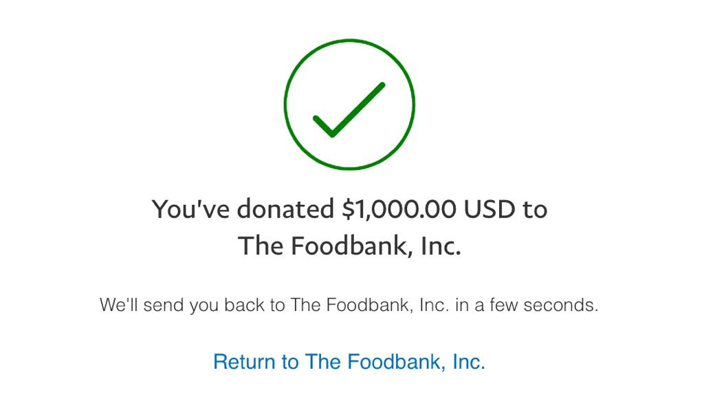 Thanks for replies on how to help tornado victims in #Ohio! So many great organizations helping out. Just gave $1k to Dayton Food Bank. (@thefoodbankinc) $1k goes a long way. $1k = 6000 meals. thefoodbankdayton.org/donate/ Who will match this? RTing donations!!