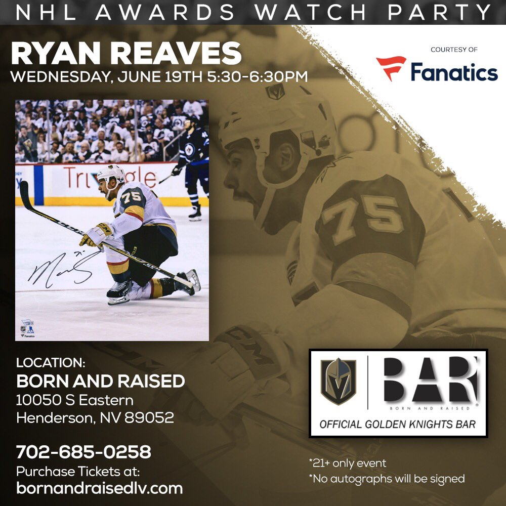 c8b8d4a4 but you can come see who does ...with me @BornAndRaisedLV in Henderson for  a NHL awards watch partypic.twitter.com/8tGkOIC7Zq