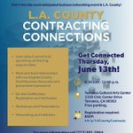 Image for the Tweet beginning: Our Contracting Connections event is