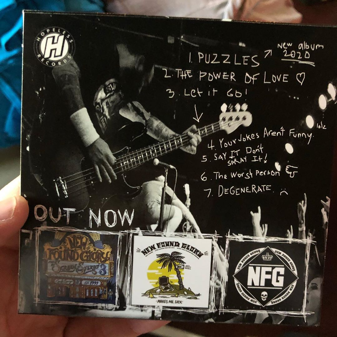 """New Found Glory Tour 2020 New Found Glory Teases New Song """"Puzzles"""" & When The New Album Is"""