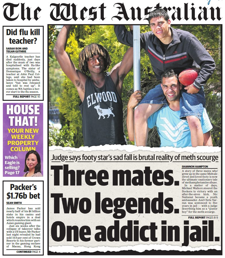 Unnecessary cover today, three mates just leave it at that. The sad reality of mental health struggles doesn't need to be exacerbated by being front page news 😔 #disappointing