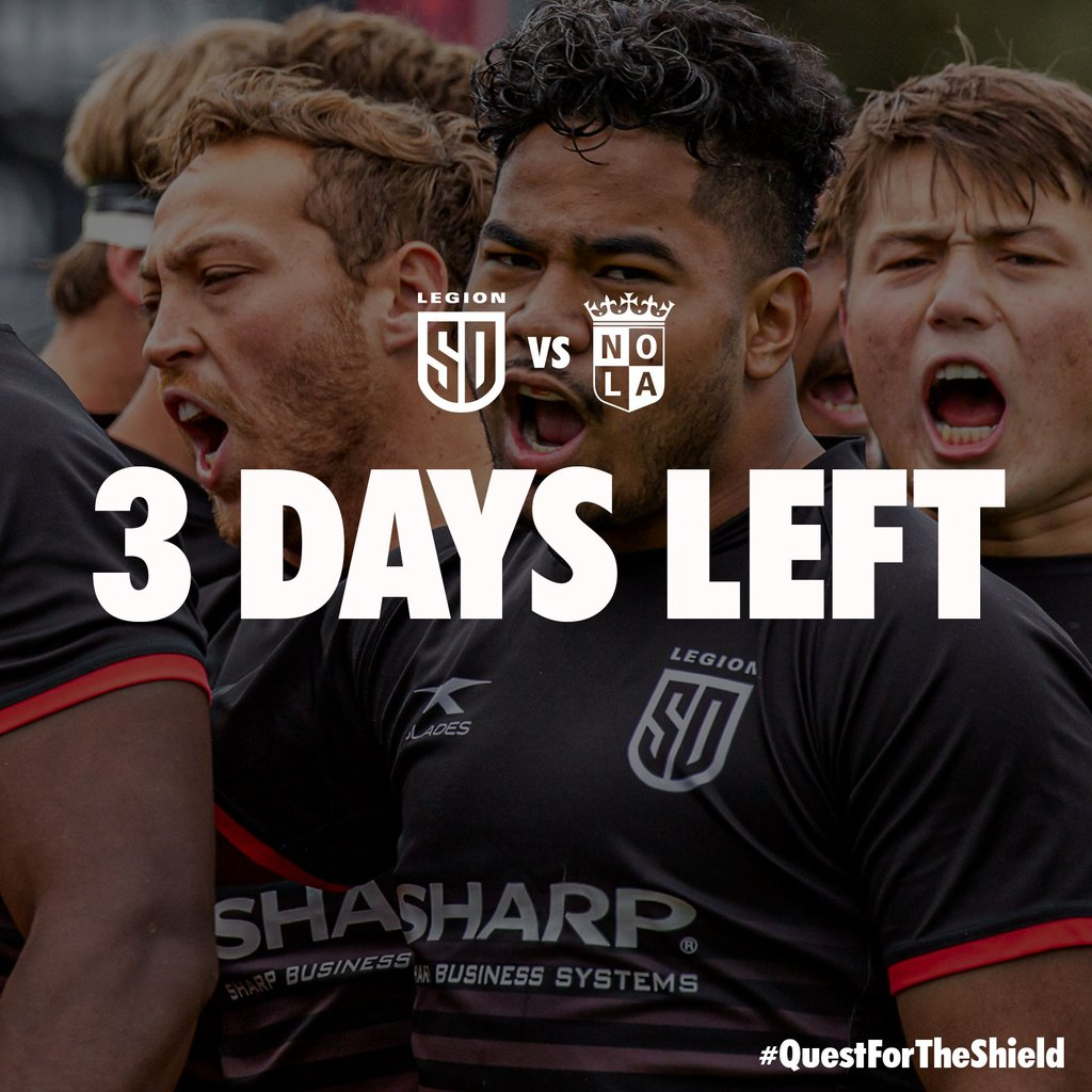 6b106f8429a Come cheer for your 1st place Legion as they host the NOLA Gold. Get your  tickets today. http://bit.ly/sdl-v-nola-tix #WeAreLegion #QuestForTheShield  ...