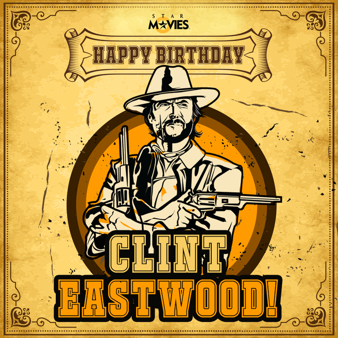 He\s one of the greatest gunslingers that Hollywood has ever known! Happy Birthday to Clint Eastwood!