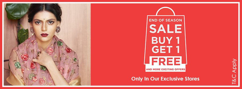 Ek Tum Aur Ek Hum. Buy 1 Get 1 Free @ Craftsvilla Stores. It's the End Of Season Sale and time for an ethnic upgrade. https://t.co/MZg8osrHyH https://t.co/oBlaPBtZce