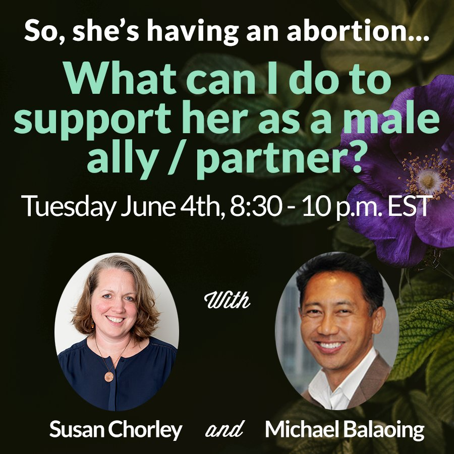 Are you a male partner who has supported someone through an abortion procedure? Your voice & perspective is valued.@ExhaleProVoice would love to connect with you on our evening webinar, Tuesday, June 4th. Go to our website & apply to join us: https://exhaleprovoice.org/post/male-allies/…
