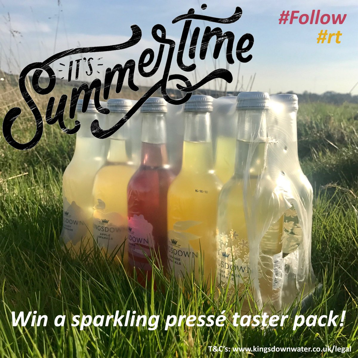 *FINAL DAY* The summer is finally nearly upon us and the sun is shining at last ☀️ We're celebrating by giving you a chance to #win a @kingsdownwater sparkling pressé taster pack! #follow & #rt for your chance to win! #Competition ends 6PM 31/05/19 #summertime #GIVEAWAY #Friyay