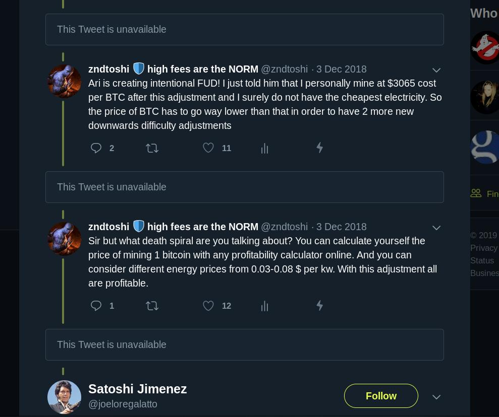 zndtoshi 🛡 high fees are the NORM - @zndtoshi Twitter Profile and