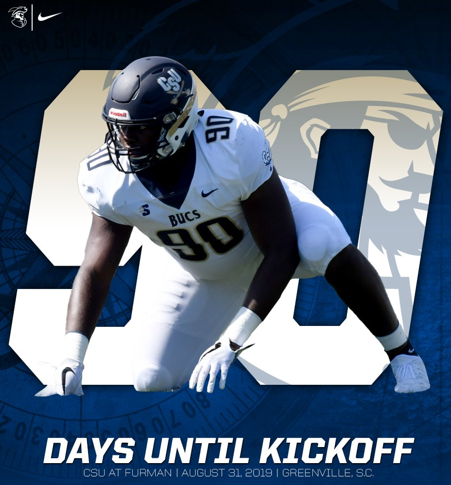 The look into the backfield - the desire to get back on the turf - @ShaundreMims and @CSUFB is 9️⃣0️⃣ days from kickoff in Greenville #JoinTheSiege #CountdownToKickott #BucVi2i0n20