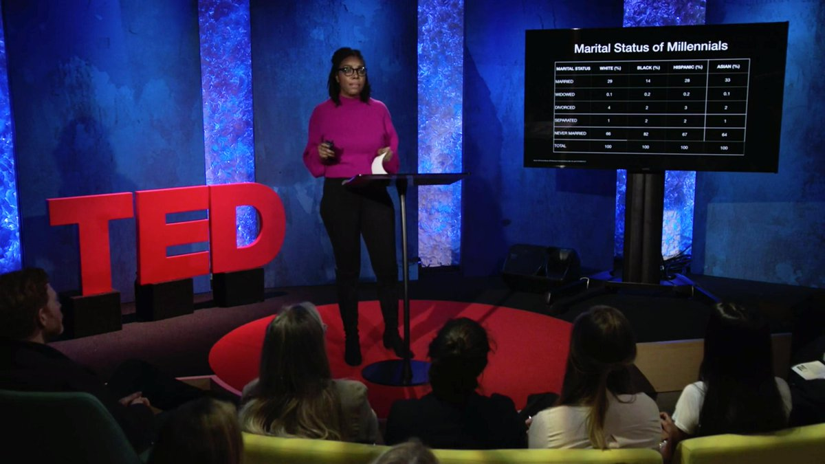Millennials are often treated as a monolith — @rnz1 is challenging that. Allen shared overlooked stories of millennials of color, offering a more nuanced view of the generation at #TEDSalon, in partnership with Doha Debates. Watch her talk http://dohadebates.com/TEDSalonAllen