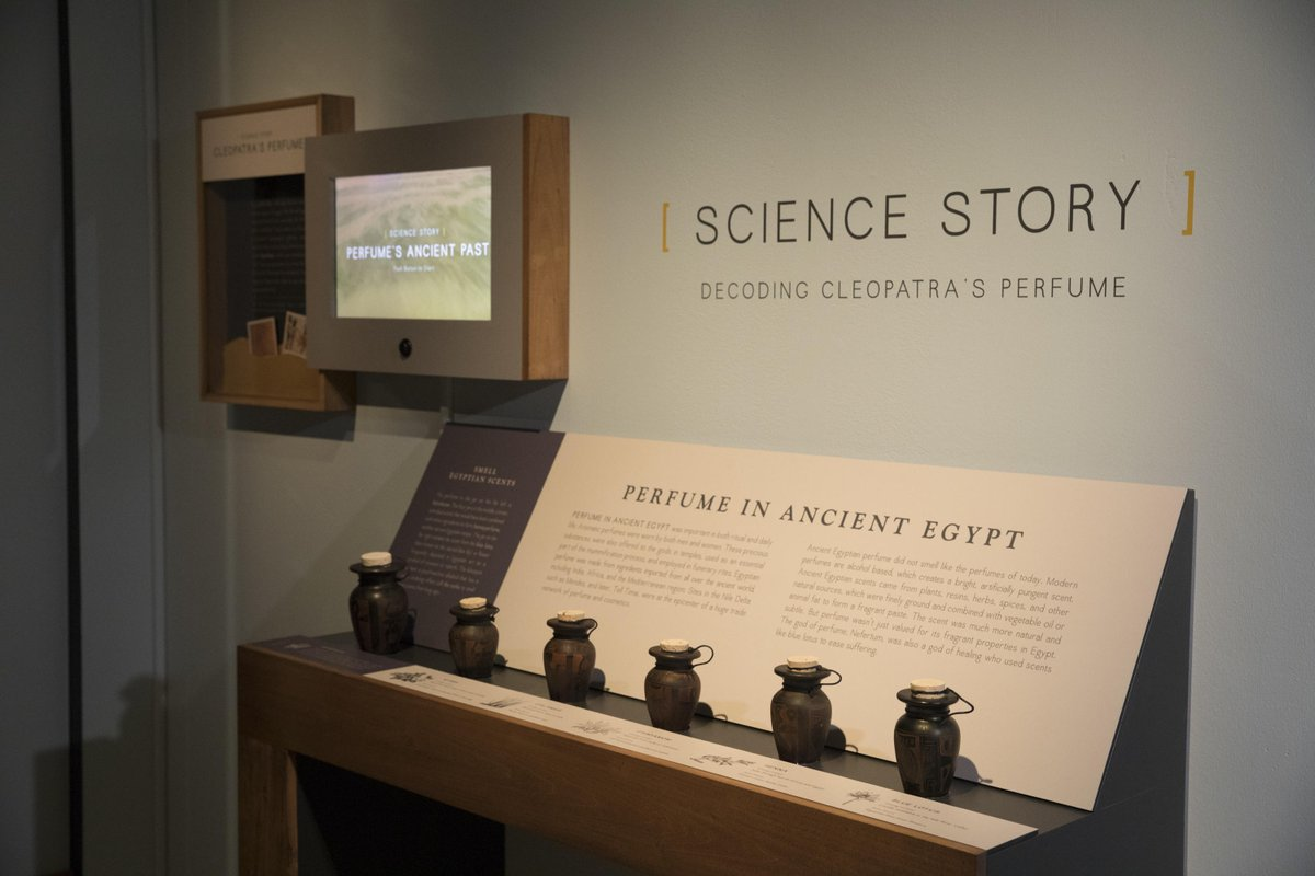 Archaeological excavations & scientific studies allow researchers to recreate the beauty products of the past including Cleopatra's perfume. Stop by our perfume smelling station at the #QueensOfEgypt exhibition and decide whether you would wear her scent! http://onnatgeo.org/vl
