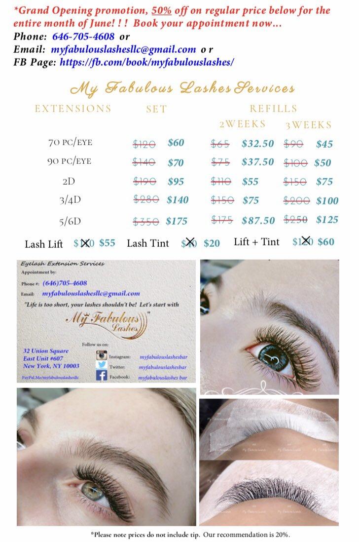 446ee9558f5 #myfabulouslashes #eyelashextension #lashlift #lashtint #grandopening #nyc # specialpic.twitter.com/LvaxQ3Xzbp
