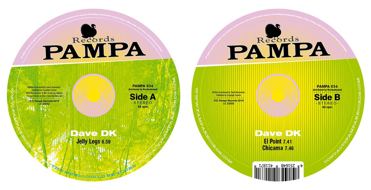 HAPPY RELEASE DAY: Dave DK - Chicama E.P. (PAMPA034) - OUT NOW! Three kicking, bumping tracks for all day and all of the night. Euphoric percussive floorkillers with a hint towards an alluring gloominess. LISTEN & ORDER: pampa.lnk.to/DaveDK_Chicama…