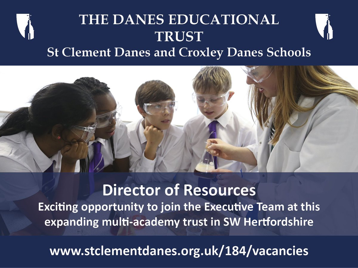 ICYMI Fantastic leadership opportunity at an exciting time for the growth of our successful multi-academy trust. Based in SW Herts. Closing date: 10th June. Details: https://t.co/5CXnN99zA4  #teachingvacancyuk https://t.co/oS6OpBfObL