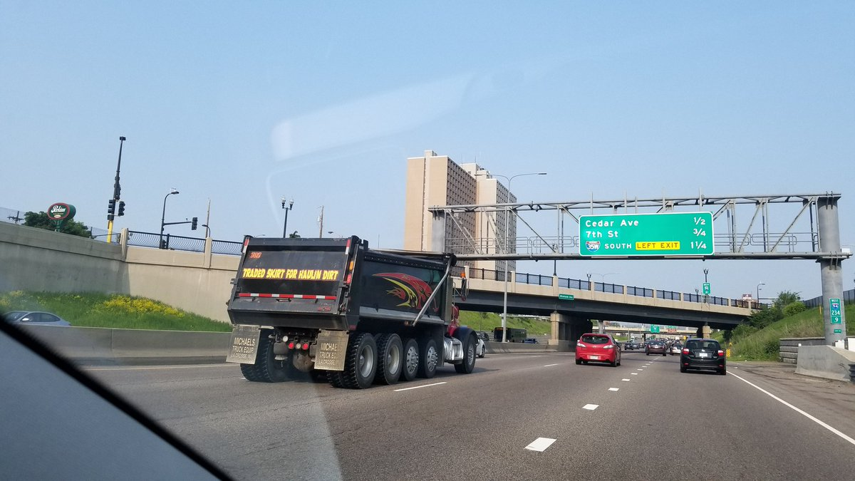 .@MSP_Traffic Not a fable or a myth; actual dump truck adornment.