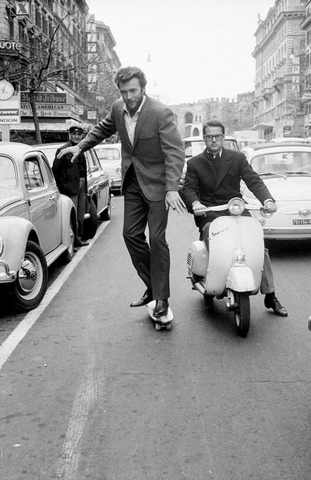 Happy Birthday to CLINT EASTWOOD.   Here he is pulling some sick fuckin\ tricks on a skateboard.