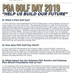 Image for the Tweet beginning: PGA Golf Day has begun