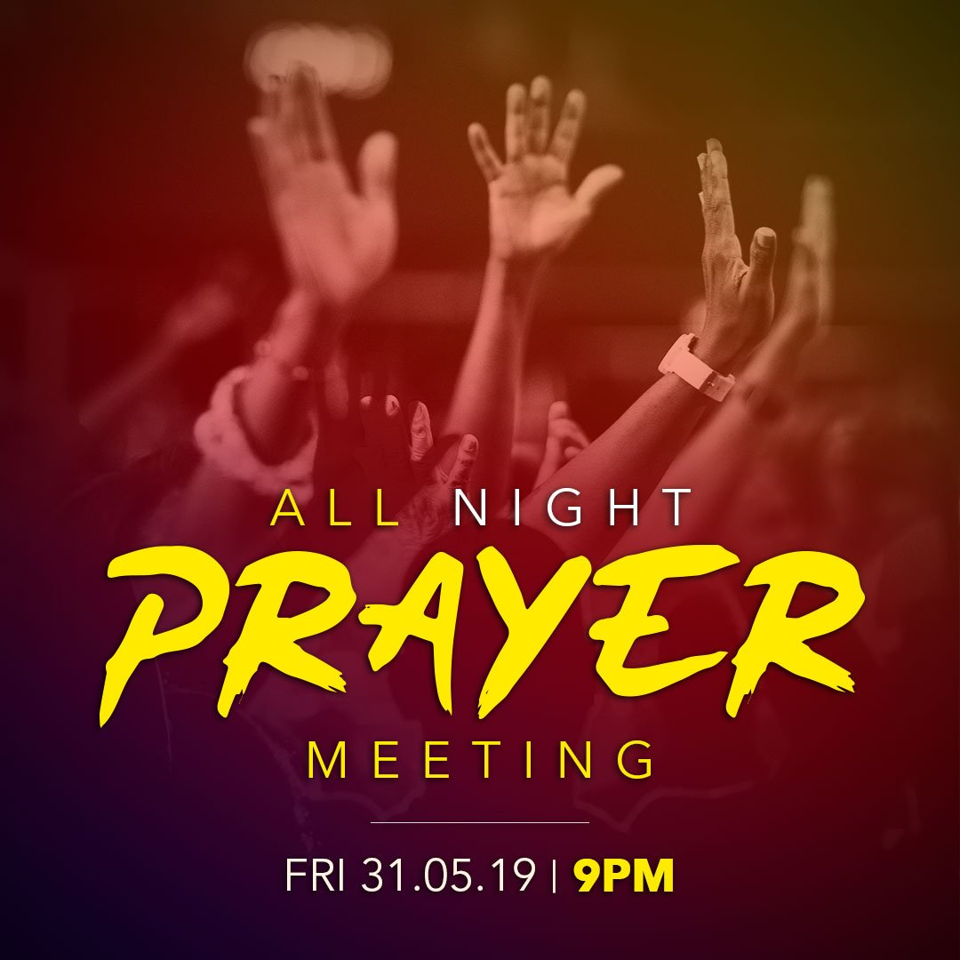 Your current address may not reflect God's glory, but Christ in you is the hope of glory - come with this assurance to the Vigil tonight and experience God's mighty power. #HOTRPrays
