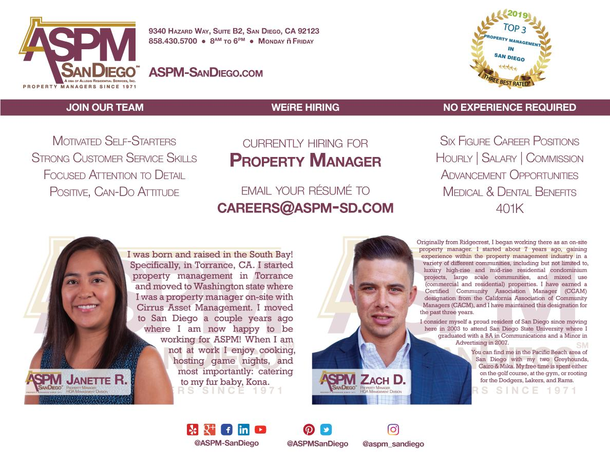 Aspm Sandiego On Twitter We Re Hiring A Top Notch Hoa Manager