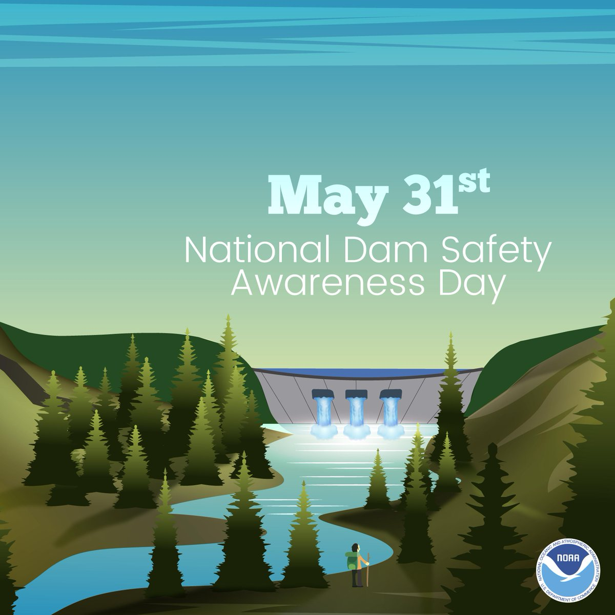 Today is National Dam Safety Awareness Day! If you live near or downstream of a dam, it's a good idea to know your risk. Check out https://damsafety.org/NDSAD to learn more. #DamSafetyDay