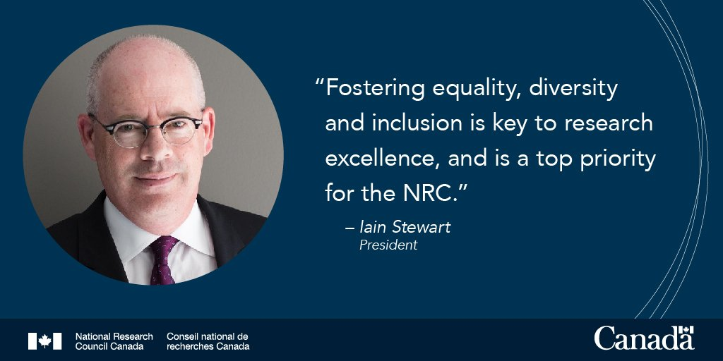 """NRC Canada on Twitter: """"The 87th @_Acfas Congress is drawing to a close.  Today, our President Iain Stewart discussed our ongoing initiatives to  foster greater diversity in science and why this is"""