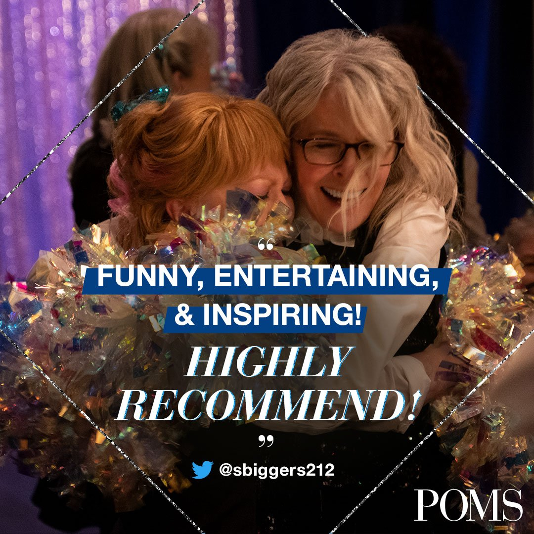 See why audiences are falling in love with #PomsMovie. Get your tickets now: https://t.co/4BAwWe0XVZ https://t.co/EZu1xxbq66