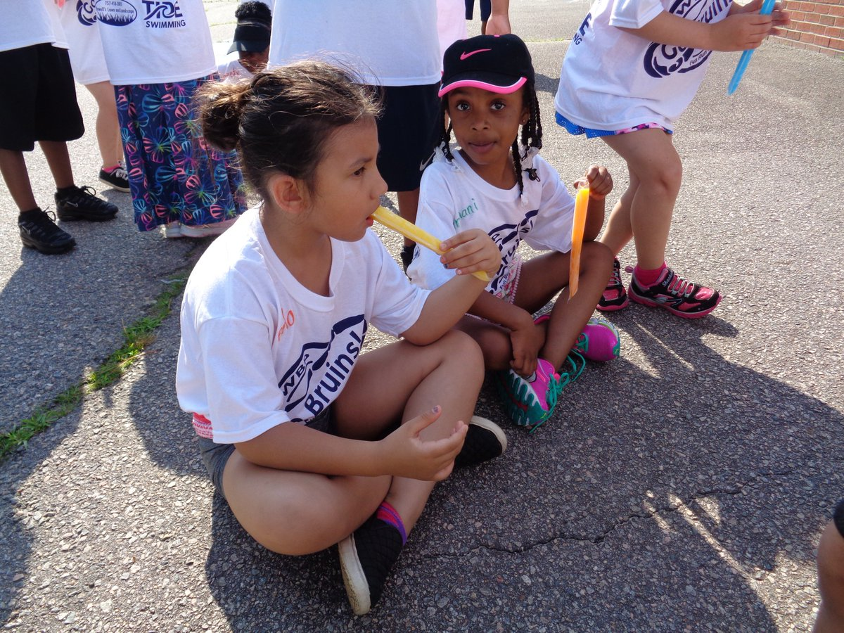 It's time to cool off at the popsicle station. Our students have been working up a sweat with all the fun they are having so it's nice to get a sweet break. #FieldDay2019