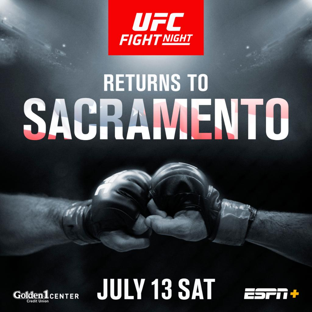 RT Golden1Center: .ufc FIGHT NIGHT IS BACK 👊😎  Tickets on sale NOW! 🎟 » https://t.co/kO6tMZe9Kh https://t.co/L92tpPfRXm #ufc #mma