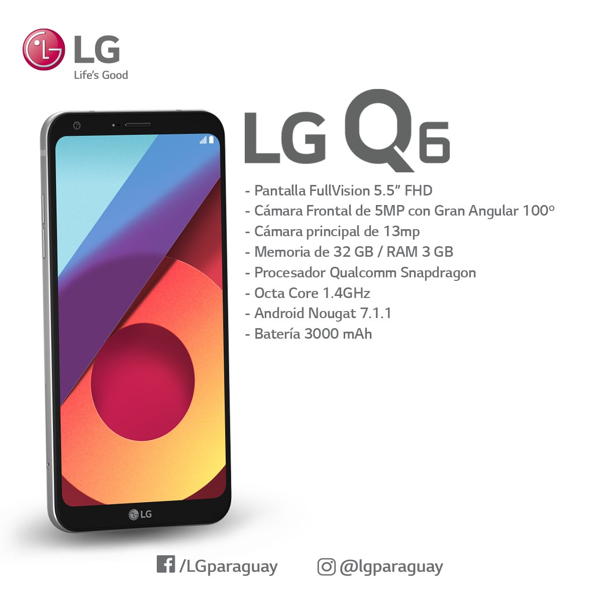 Conocé el #LGQ6 con un diseño elegante y minimalista, y una forma más redondeada para una experiencia visual ideal. https://t.co/lRRkYx5sGm