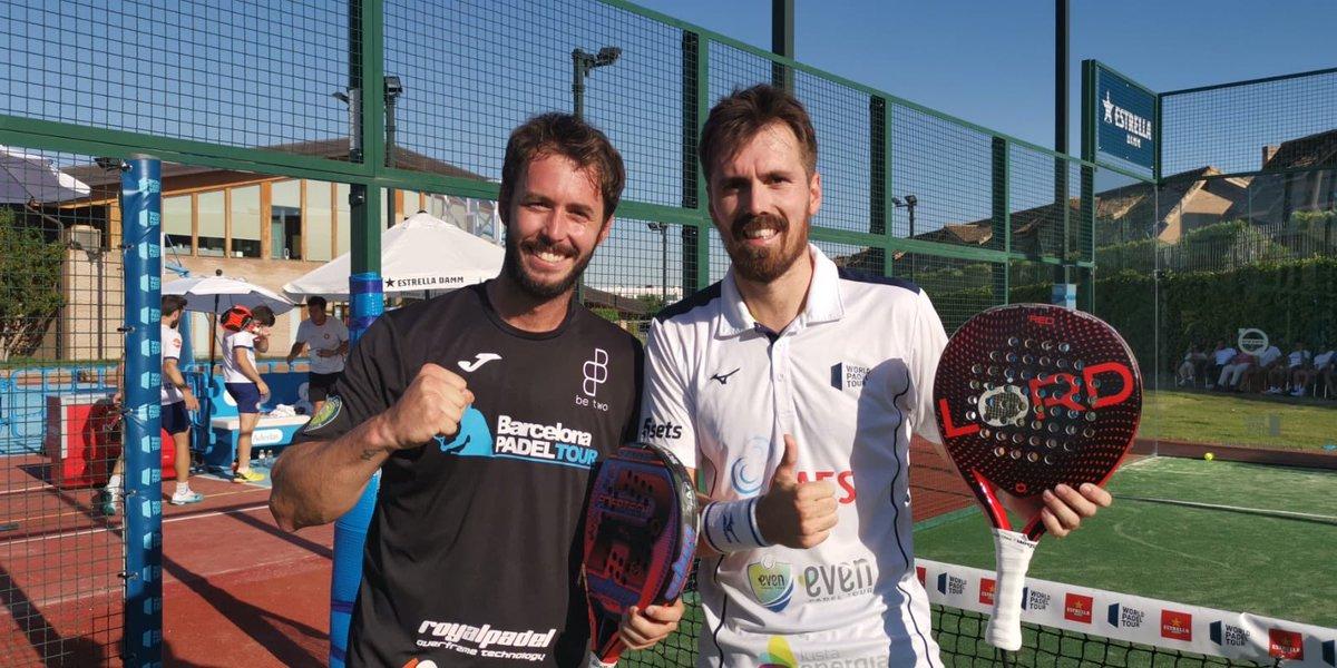 Toni Bueno y Rubén Rivera ganaron su partido en la final de la previa del Swedish Open