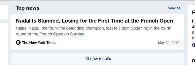.@twitter and .@nytimes - This is really really crazy to see a news item from 2009 in my feed for 2019 - especially on a day when .@RafaelNadal won the match! #FixYourAlgo
