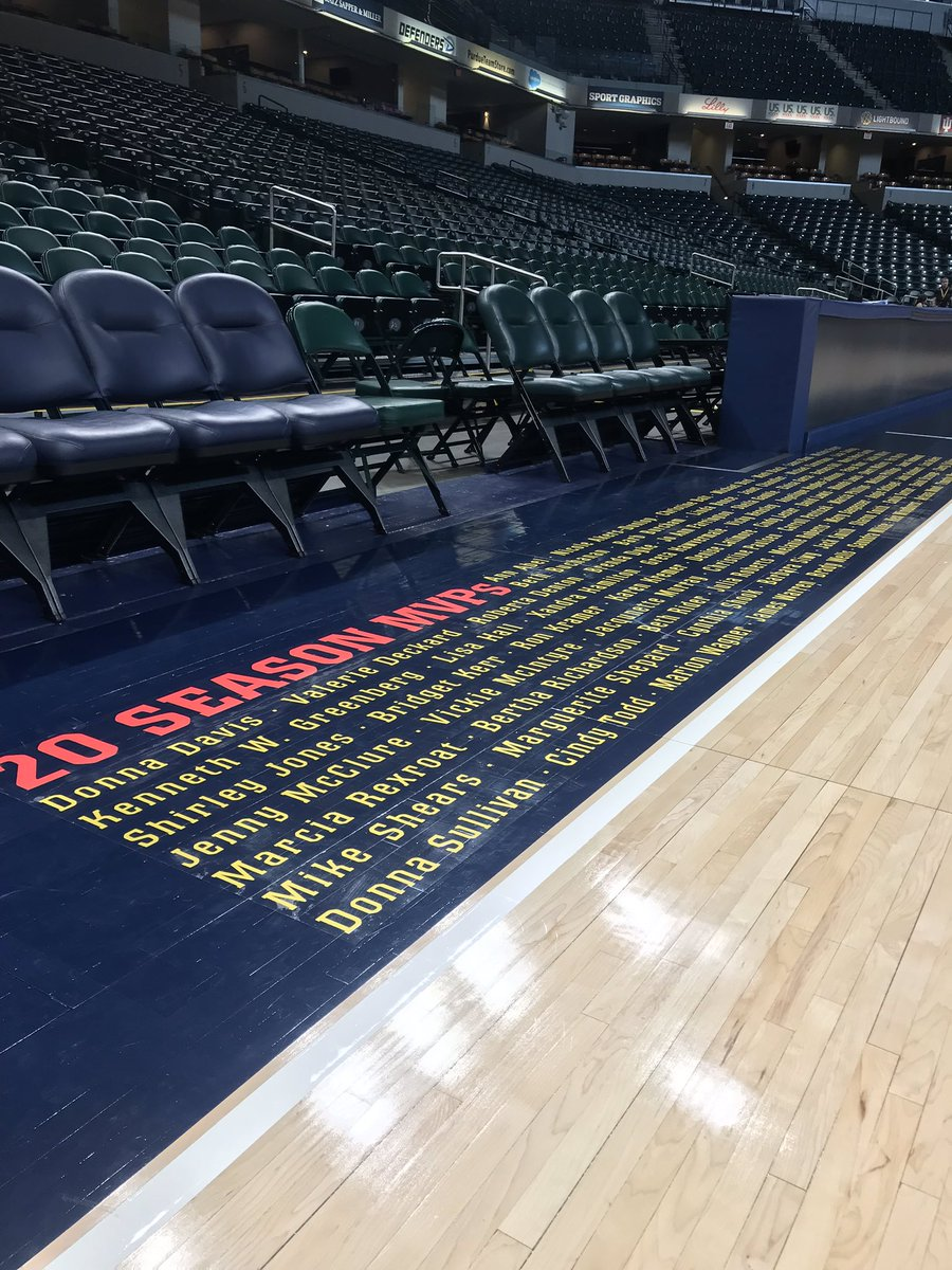 How cool is this? Tomorrow the Fever will tip off their 20th season of basketball at the Fieldhouse, they'll honor their season ticket holders who have been here since day 1.