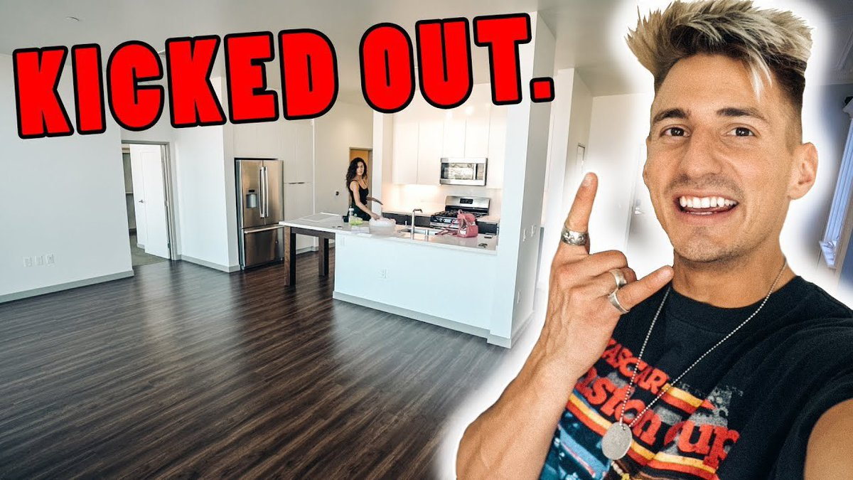 Welp... got kicked out of my house lol here's my new apartment 😂 RT for a SHOUTOUT! youtu.be/3t8WrCY0YAo