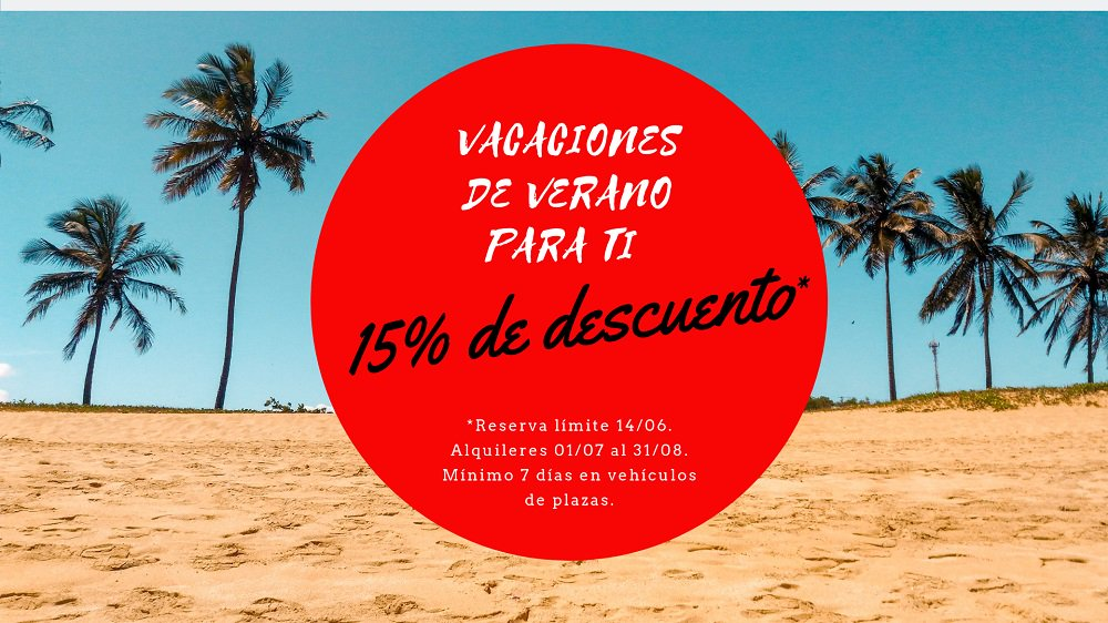¡¡ÚLTIMOS DÍAS!! Reserva con el -15% y disfruta del VERANITO Haz ya tu reserva. 👇 http://reservas.lowcostrent.es/ #liberateconLowCostRent #Ponteareas #Vigo #Peinador