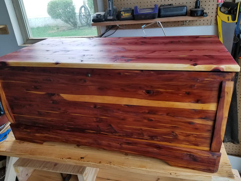 Cedar chest is done and up for sale!