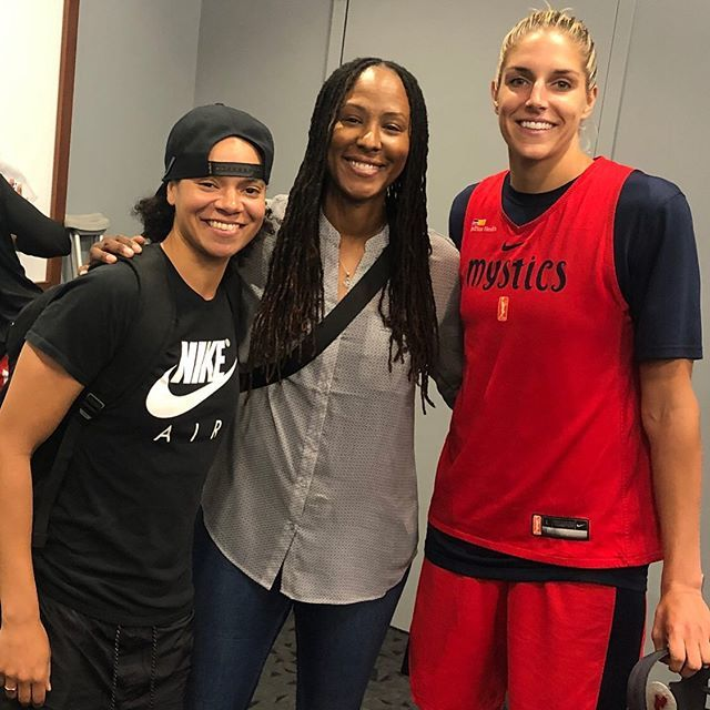 I'll always be a @washmystics!!! I really enjoyed my playing time in DC. I'm so proud of these two ladies and the excitement they have helped bring to the city on and off the court. Stop #1 with the @wnba mental health seminar. #washingtonmystics #dcorno… http://bit.ly/2HM9jAB