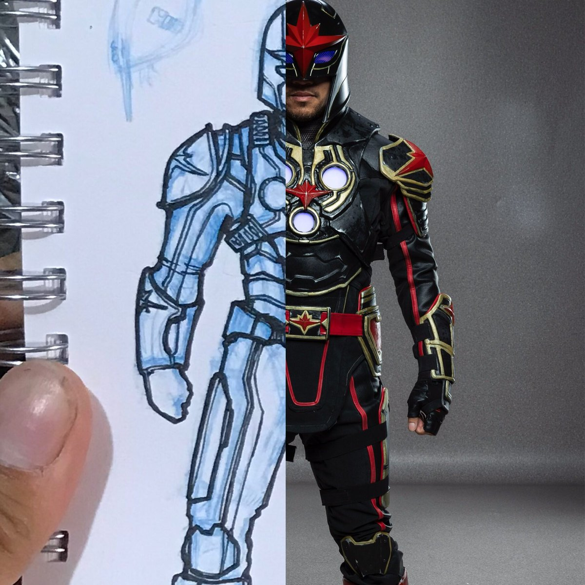 First Nova concept and the finish costume! #conceptart #costumedesign #marvel #novacosplay #nzcosplay #worblapic.twitter.com/jGf7obva8p