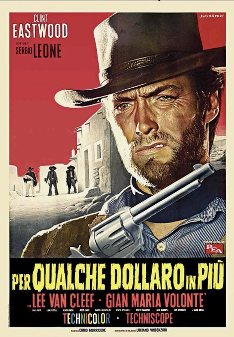 Happy birthday Clint Eastwood! Great tribute airing For a Few Dollars More.