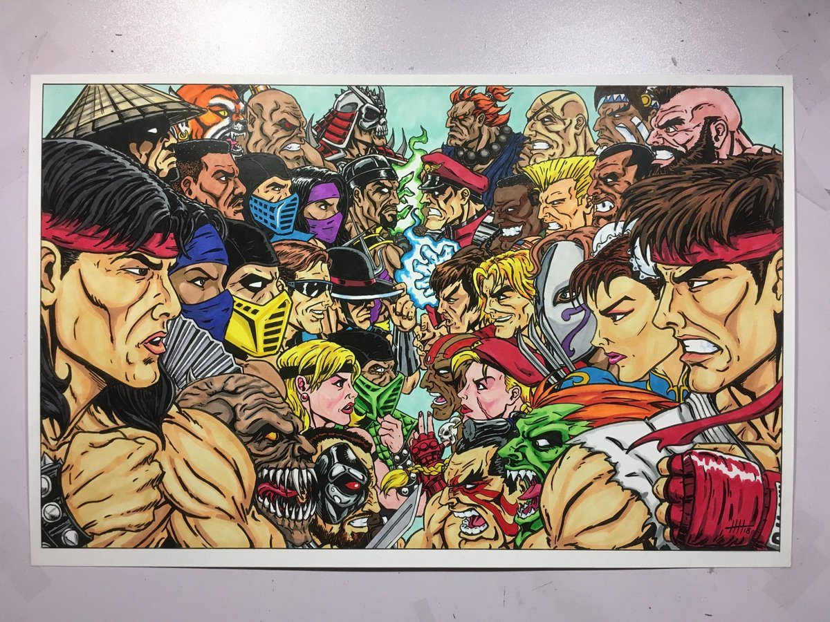 Hal Haney On Twitter Mortalkombat Vs Streetfighter Faceoff Available Now In My Etsy Shop Liukang Shangtsung Scorpion Subzero And Shaokahn Take On Ryu Chunli Guile Mbison And Akuma Use He Link In