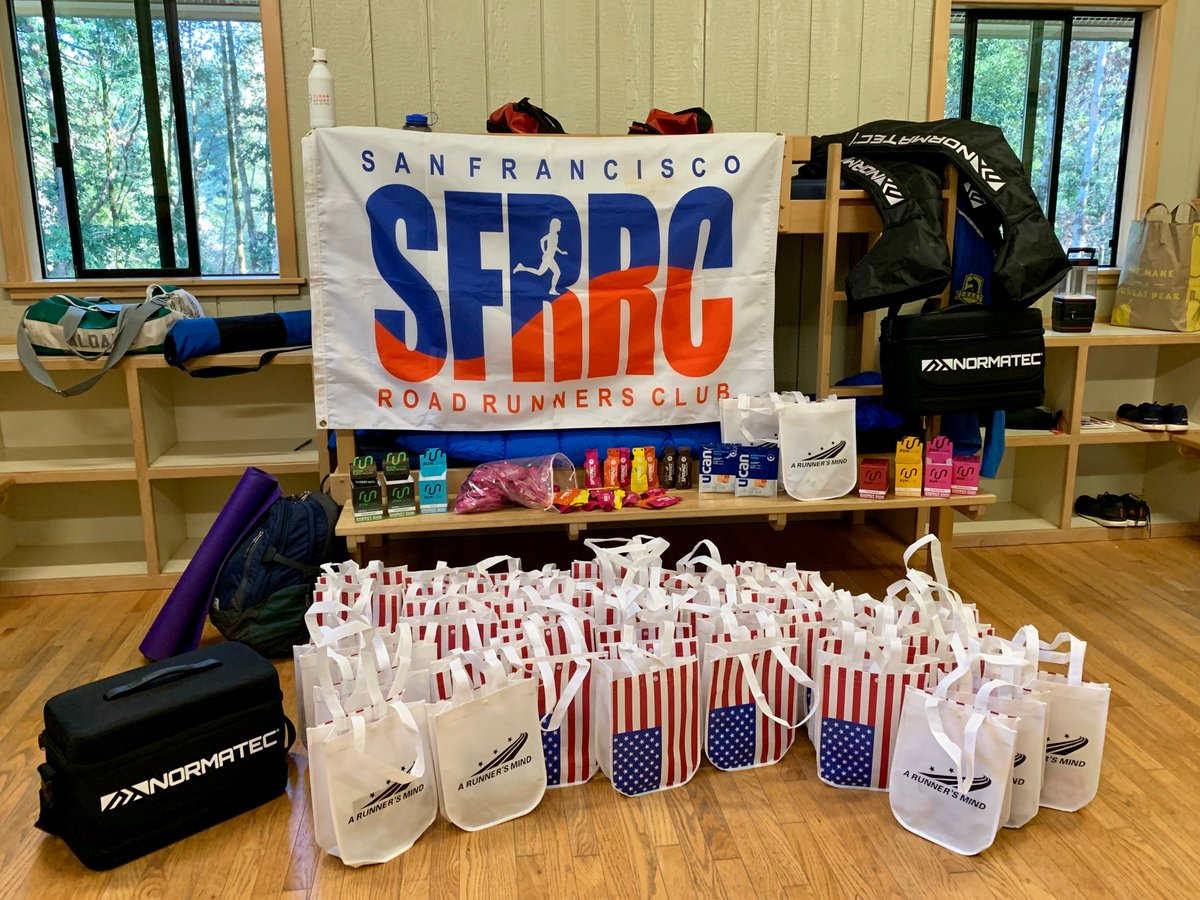 A huge THANK YOU to our camp sponsors @RunGum, @GenUcan, @NTRecovery, @spring_energy. Please try their products. We LOVE THEM - they are so beneficial/good!! Plus, our sincere thanks to our friends at @ARunnersMind for helping us with so much for camp. #sfrrc #bettertogether