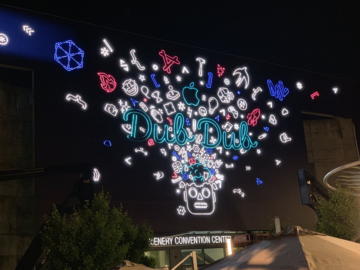Even Display P3 would struggle to capture how vibrant the #WWDC19 sign is 👌