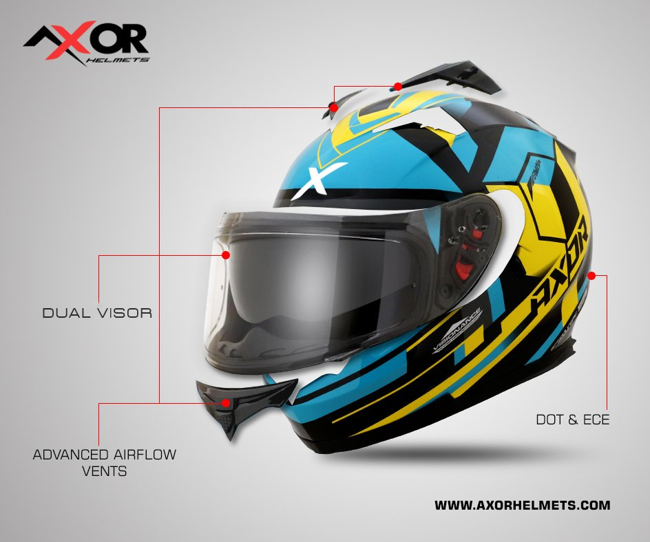 e0c211c6 Experience the amazing ride with the most stylish and stunning graphics of  Axor Stealth Crazy Helmet