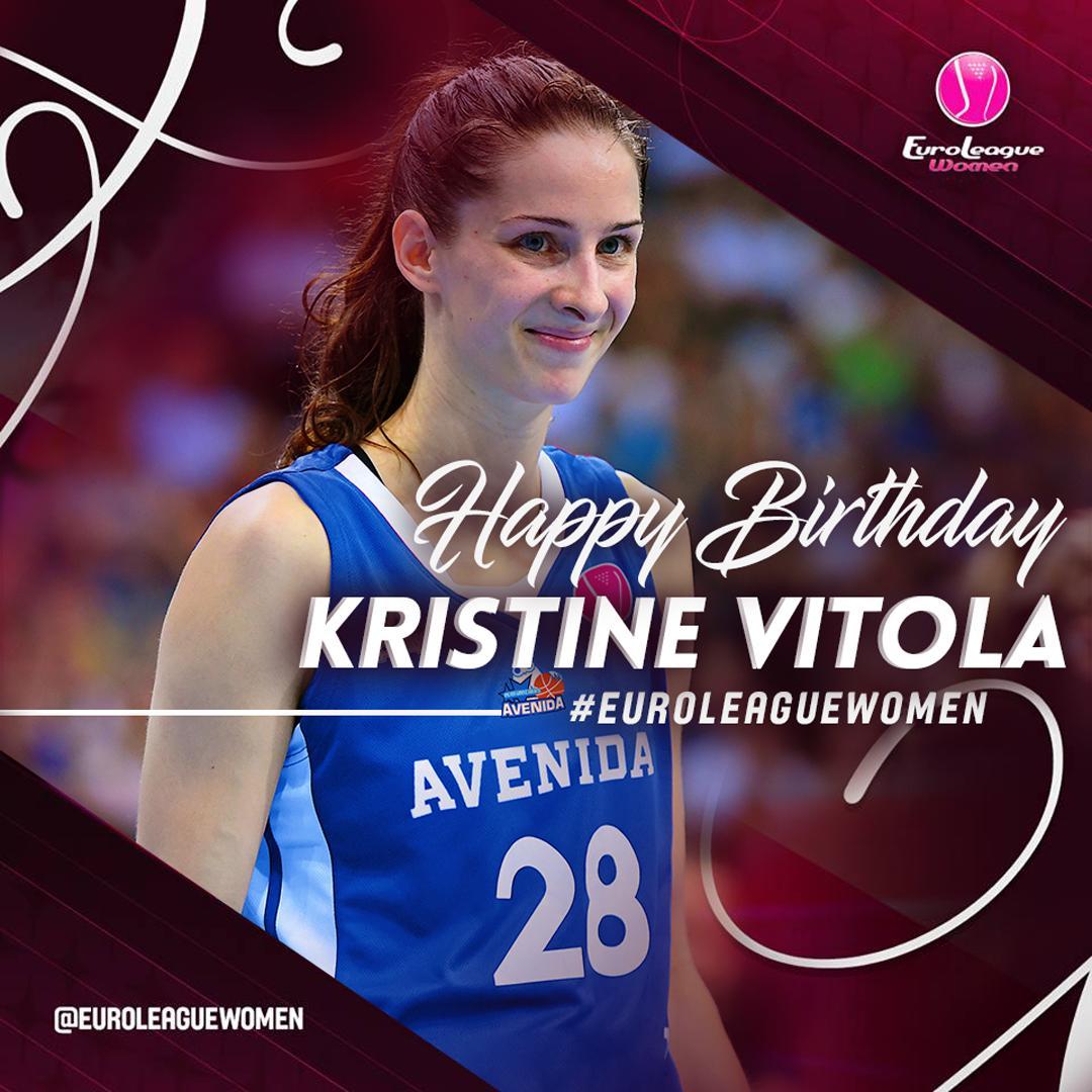 """EuroLeague Women on Twitter: """"#HappyBirthday @Kris_MissVitola ..."""